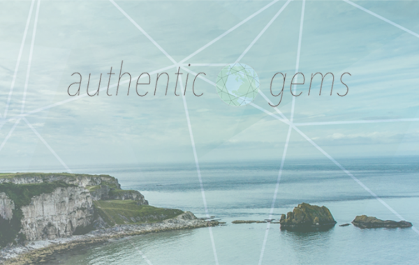 Header image for Authentic gems travel blog design by Hannah Cackett_design
