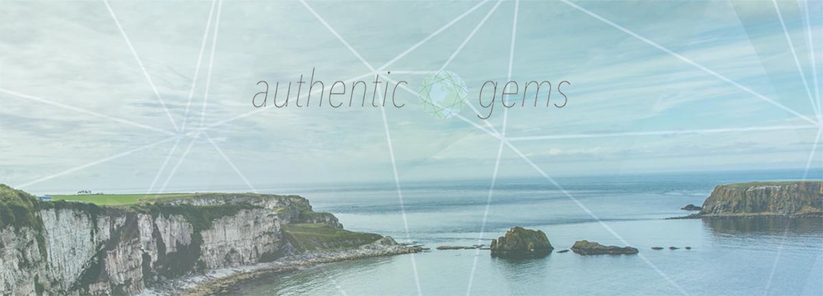 Header image for Authentic gems travel blog design by Hannah Cackett_design