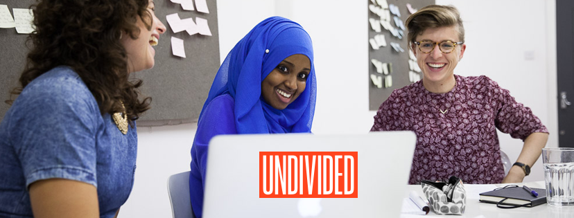 Header image for Undivided campaign website design by Hannah Cackett Design